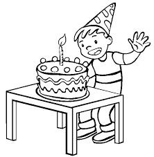 Small Picture Cake And Happy Birthday Coloring Pages For Boys Birthday