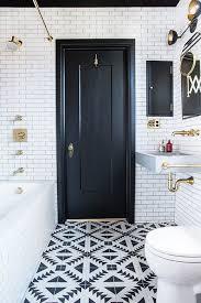 bathroom inspiration small black tile contrast