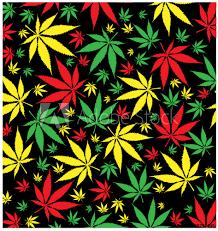 Fotografie Obraz Jamaican Marijuana Pattern Posterscz