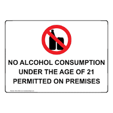 Under The Sign Symbol Nhe-25546 With Consumption No Alcohol
