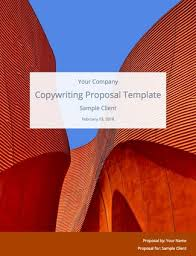 Proposal Templates Free Free Copywriting Proposal Template Bidsketch