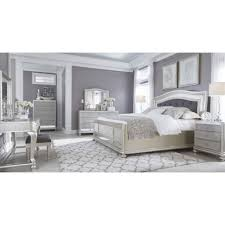black and silver bedroom furniture. coralayne silver bedroom set black and furniture r
