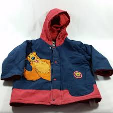 disney bear big blue house warm winter jacket coat 2t 18 24 months red on