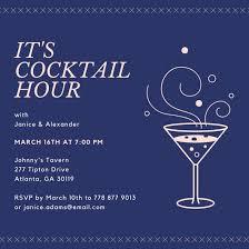 Happy Hour Invitation Template Customize 242 Happy Hour Invitation Templates Online Canva