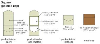 Foldable Invitation Template Square Pocketfold
