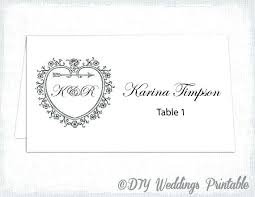 Table Name Cards Template Free Tent Name Cards Wedding Invitation