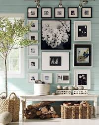 picture frames on wall simple. Traditional Living Room With Pottery Barn Wood Gallery Oversized Mat Frames, Farmhouse Bench, Flush Picture Frames On Wall Simple