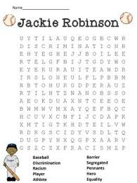 best jackie robinson ideas who was jackie  please enjoy this word search for jackie robinson this worksheet can also be found