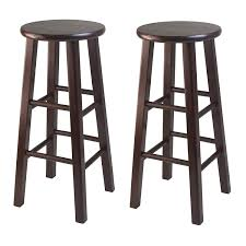 quality bar stools. Delighful Quality Amazoncom Winsome 29Inch Square Leg Bar Stool Antique Walnut Set Of 2  Kitchen U0026 Dining On Quality Stools B