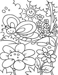 Springtime Is Season For Flower To Bloom Coloring Sheet Batch
