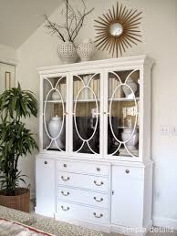 Diy Bedroom Cabinets Repurposed China Breakfront In The Bedroom Simple Details One