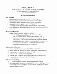 Non Profit Resume Samples Resume Work Template