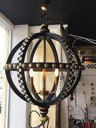 mackenzie childs globe courtly check chandelier