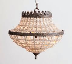 pottery barn beaded chandelier beaded crystal chandelier pottery barn rowan iron beaded chandelier