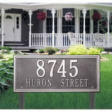 Decorative Metal Yard Signs Lawn Mounted Address Plaques Hayneedle 56
