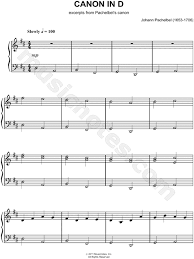 This classical sheet music is canon in d by johann pachelbel. Johann Pachelbel Canon In D Sheet Music Piano Solo In D Major Download Print Sku Mn0096997
