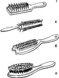 Дипломная работа Современные стрижки мужские и женские волос  Гребни с более крупными и редкими зубьями подойдут для расчесывания волос после мытья а также для нанесения геля и укладки мокрых и рельефных причесок