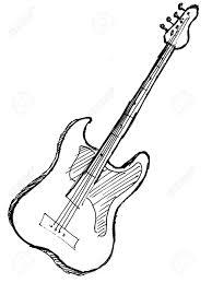 Guitar clipart drawn
