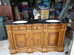 details about never used 70 1 4 double sink vanity with black marble top with a few flaws