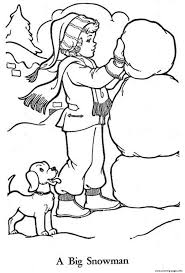 Small Picture little girl build a snowman sff94 Coloring pages Printable
