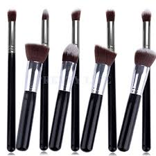 best quality 9pcs makeup brushes premium synthetic make up brush set tools kit professional cosmetics silver