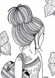 Girls With Tattoos Coloring Pages