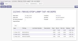Stock Number Stock Card Odoo Apps
