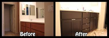 Bathroom Cabinet Refacing Before And After Cabinet Refacing Three