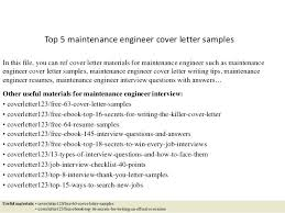 Resume Cover Letter Engineering As Well As Top 5 Maintenance