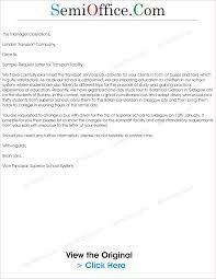 sample letter for transport arrangement