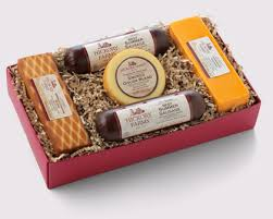 cheese gift box 38 00 2 our signature beef summer sausages 10 oz farmhouse cheddar 10 oz smoked cheddar blend 10 oz smoked gouda 6 oz