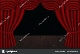 black stage curtains backdrop fabric