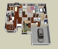 Open Concept 3 Bedroom House Floor Plan Design 3d 3 Bedroom House Maryamsalehidesign