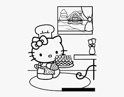This cute set of hello kitty valentines coloring pages is a perfect addition to your child's valentine's day festivities. Hello Kitty Birthday Cake Coloring Hello Kitty Coloring Pages With Numbers Free Transparent Clipart Clipartkey