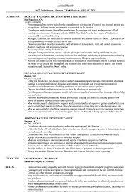 Administrative Support Specialist Resume Samples Velvet Jobs