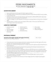 Med Tech Resume Sample Lab Tech Resume Sample New Medical