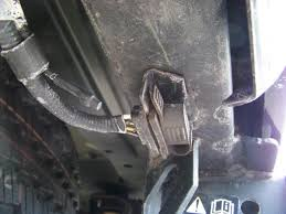 installing a 7 blade rv connector on a ford expedition blue oval the connector is in a rubber plug and will slide down and out of the mount