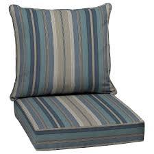 allen roth stripe blue deep seat patio chair blue patio furniture cushions