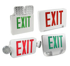 exit sign emergency light combo