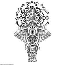 Download For Free Yoga And Elephant Mandala Coloring Pages Coloring