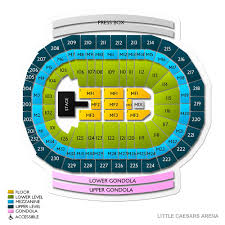 Lca Seating Chart Wwe Little Caesars Arena Seating Little Caesars Arena