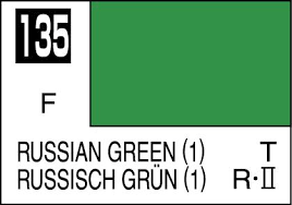 Moly Resin Color Chart Mr Color Paint Russian Green 1 10ml C135
