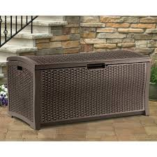 Suncast 103 Gallon Deck Box Cushion Storage Outdoor Patio Bins Lifetime Extra Large Wicker