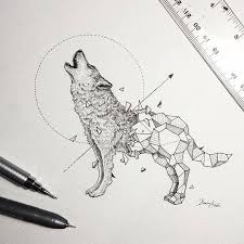 Wild drawing of animals Lion Geometric Beasts Allfreedownloadcom Intricate Drawings Of Wild Animals Fused With Geometric Shapes