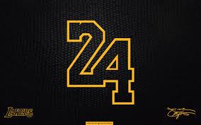 Lakers Kobe 24 black laptop/tablet ...