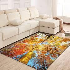 simple north europe style rug maple leaf pattern floor mat living room bedroom