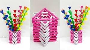 News Paper Flower Vase Make Paper Flower Vase Step Tinaheart