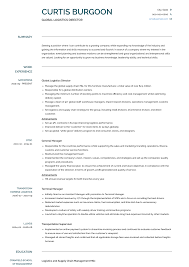 Logistics Management Resume Cv Logistics Manager Magdalene Project Org