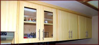 best oak wood kitchen cabinet doors with glass and aluminum handle