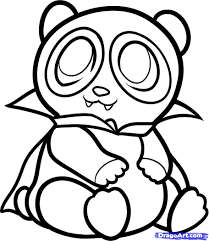Small Picture Coloring Pages Draw A Cartoon Panda Coloring Page